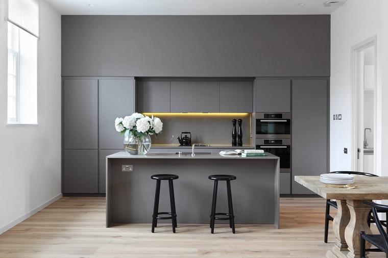 Cucina Bianca E Wenge - Idee per la progettazione di decorazioni per ...