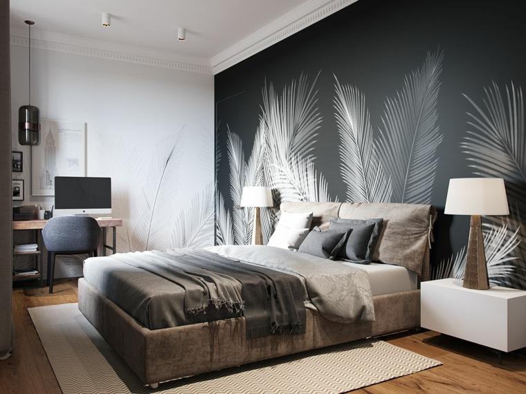 L'idea di avere una parete completamente ricoperta da una carta non. 1001 Idee Per Colori Camera Da Letto Chiari E Scuri