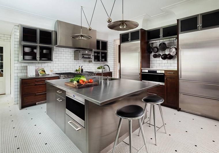 Cucine acciaio inox look professionale e design ultra moderno  Archzineit