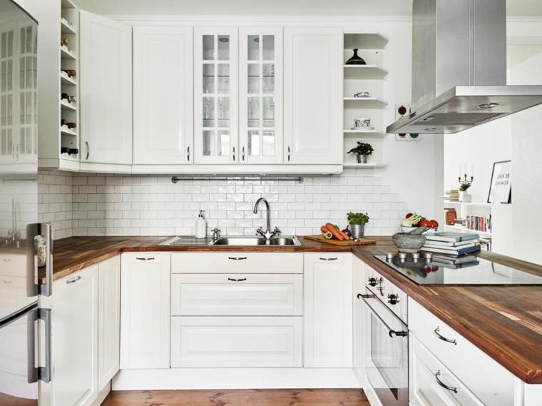 Cucina Ikea Bianca E Legno XM16  Pineglen