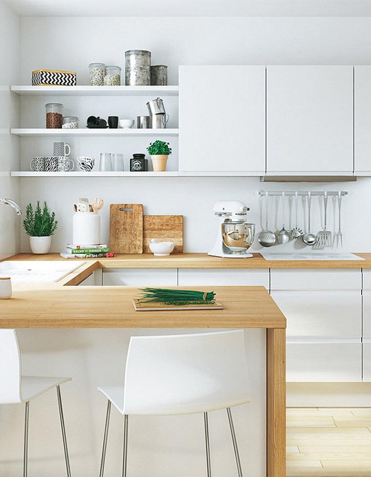 Arredare un soggiorno con mensole e ripiani dai colori vivaci. 1001 Idee Per Cucine Moderne Piccole Soluzioni Di Design