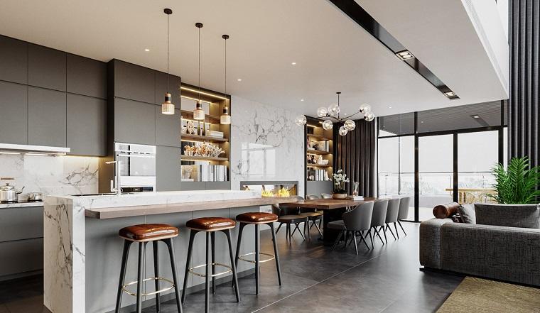 Le cucine ernestomeda e le camerette cityline. 1001 Idee Per Arredare Salotto E Sala Da Pranzo Insieme Con Stile E Funzionalita