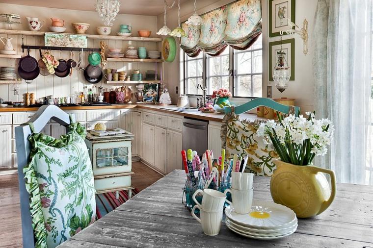 Si adattano a qualsiasi stanza: 1001 Idee Per Cucine Shabby Chic Trendy E Low Cost