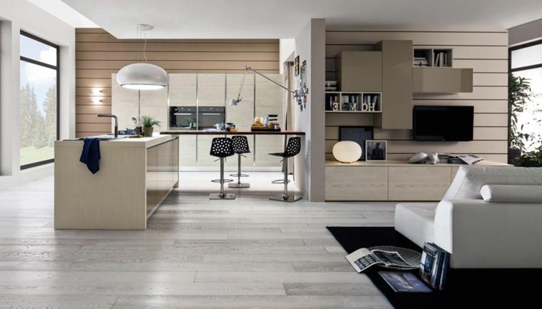 In un open space con soggiorno e cucina dallo stile moderno, puoi osare con il colore e con i contrasti, alternandoli fra i due ambienti. 1001 Idee Per Cucina Open Space Dove Funzionalita E Comfort Si Uniscono Con Stile