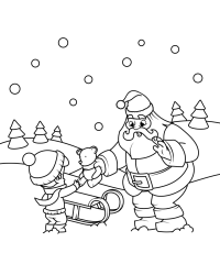 Babbo Natale Con Regali Da Colorare 1001 Idee Per