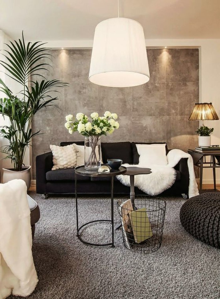 1001  Idee per Soggiorno bianco e grigio di design