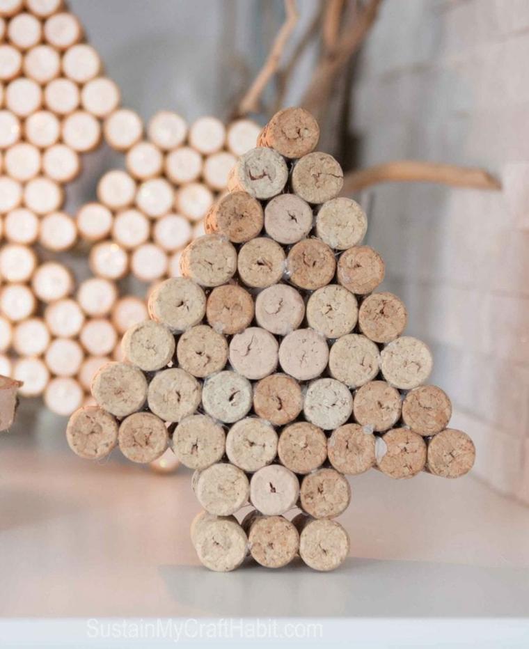 Decorare l'albero di natale con i tappi di sughero! 1001 Idee Per Dei Lavoretti Con Tappi Di Sughero Facili