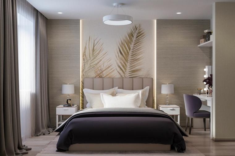Le decorazioni di questo tipo si possono usare in vari modi: 1001 Idee Per Dipingere La Camera Da Letto Di Due Colori