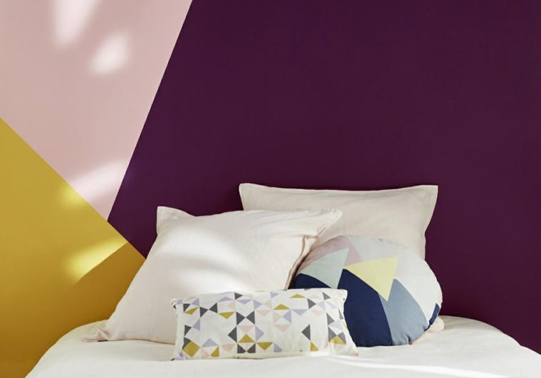 Una camera da letto è un rifugio per il riposo, il relax e l'intimità. 1001 Idee Per Dipingere La Camera Da Letto Di Due Colori