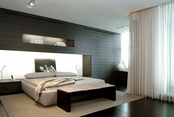 Modernes Schlafzimmer Design kreative Ideen fr Kopfbretter  Archzinenet