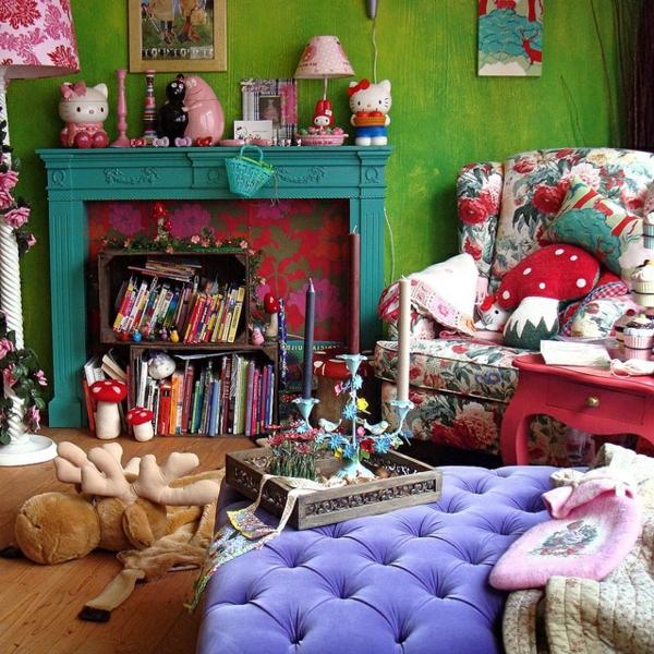 buntes wohnzimmer - boisholz - Deko Trends 2014 Wohnzimmer