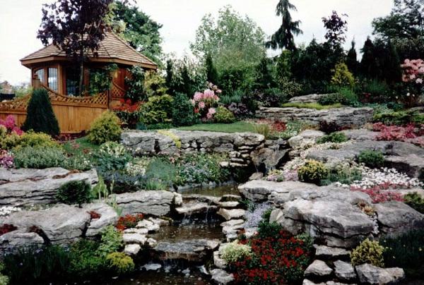 moderner steingarten steine in der ecke - gartentore, Garten und erstellen