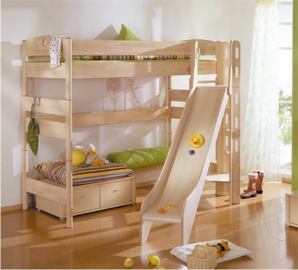 Hochbett mit Rutsche  Spa im Kinderzimmer  Archzinenet