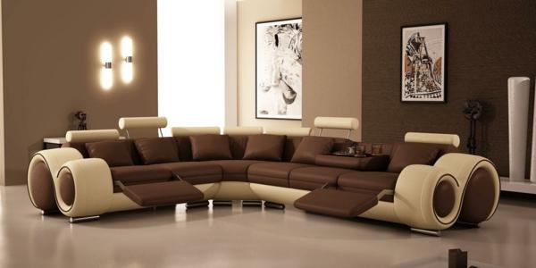 wohnzimmer streichen inspirierende ideen archzine net moderne ... - Wohnzimmer Farben Braun Streifen