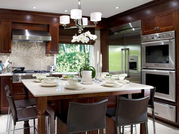orange kitchen cabinets best quality 45 wunderschöne ideen für küchengestaltung - archzine.net