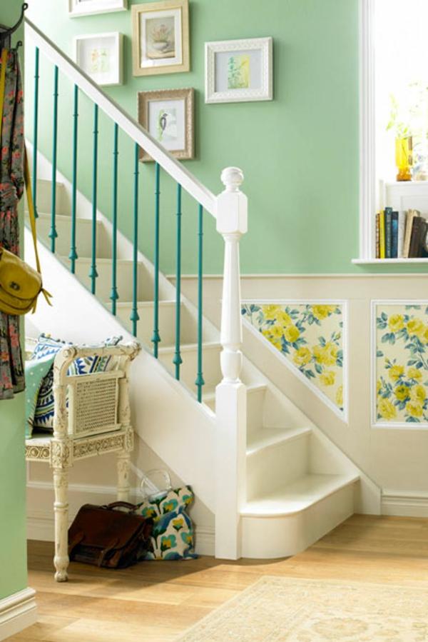 kontrastierende farben im wohnzimmer moderne streichen idee - boisholz - Flur Farbgestaltung