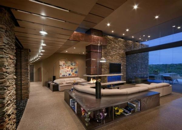 Deckenleuchten und Wandleuchten fr eine luxus Wohnung  Archzinenet