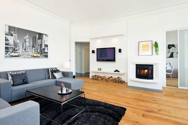 modernes wohnzimmer kamin bilder