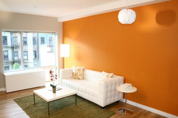 wohnzimmer einrichten orange   moregs - Wohnzimmer Einrichten Orange