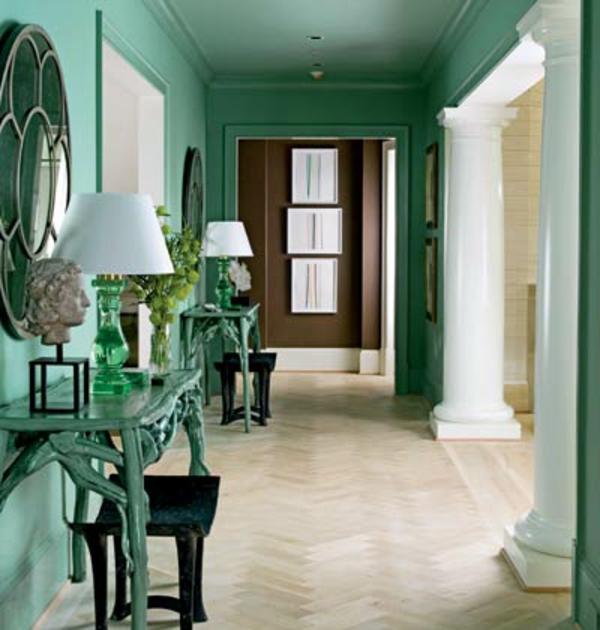farbgestaltung wohnzimmer einrichten mit farbe - boisholz - Flur Farbgestaltung