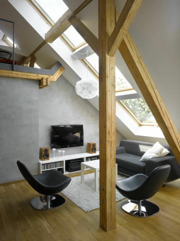 Dachwohnung einrichten  30 Ideen zum Inspirieren