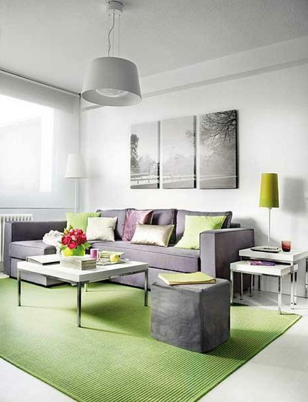 wohnzimmer modern grun haus design ideen