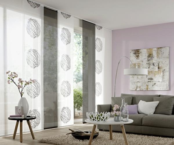 Design Moderne Wohnzimmer Vorhange Gardinen Modern ...