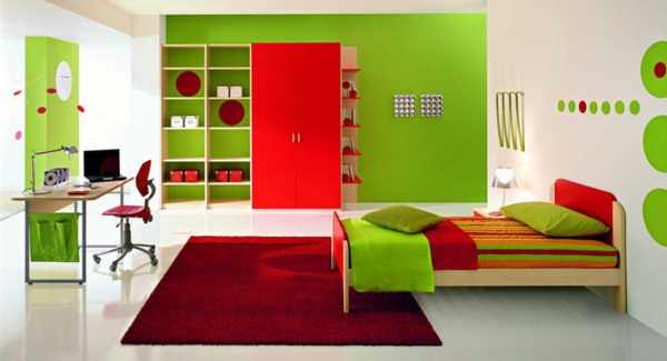 Wandfarben Wohnzimmer Ideen Wandgestaltung Rote Wandfarbe - Boisholz