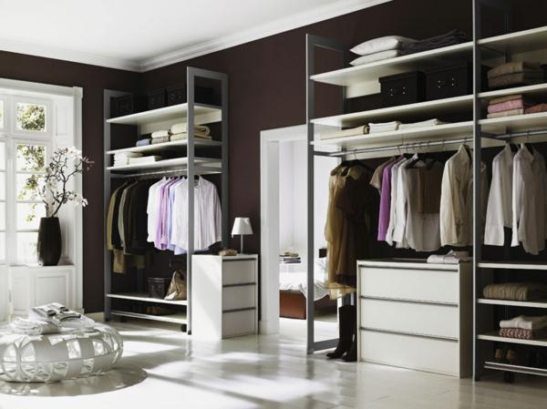 Offene Kleiderschranksysteme  30 wunderschne Ideen