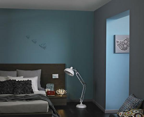 schlafzimmer farbe lagune
