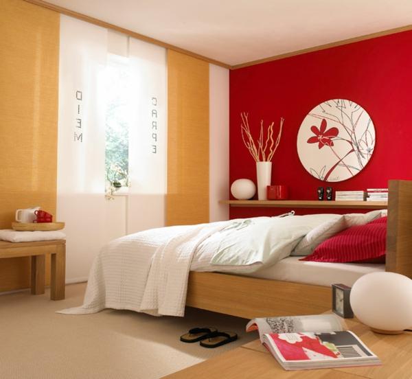 Attractive Schlafzimmer Rote Wand #9: Schlafzimmer Rote Wand U2013 Menerima, Schlafzimmer