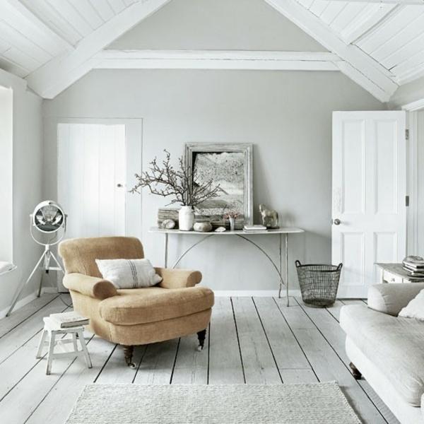 farbe wohnzimmer graues sofa - boisholz - Wandfarben Gestaltung Grau