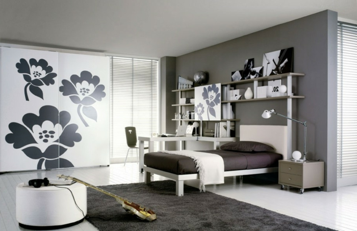 schlafzimmer grau streichen m belideen. Black Bedroom Furniture Sets. Home Design Ideas
