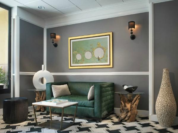 wohnzimmer farben grau streifen haus design ideen