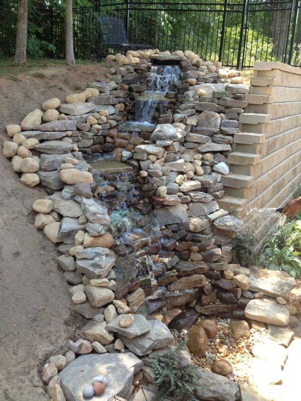 Wasserfall im Garten  25 wunderschne Ideen  Archzinenet