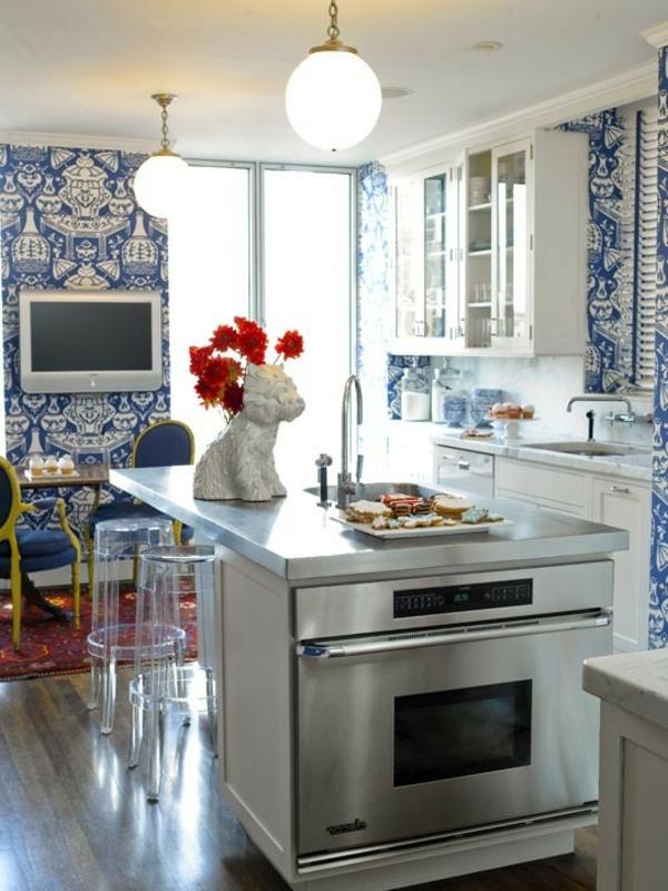 Kreative Kchentapeten Beispiele  fr kreative Hausfrauen