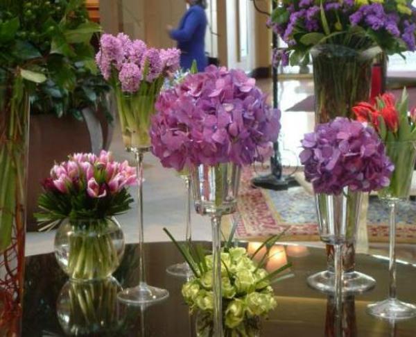 Tischdeko mit Blumen  35 super Ideen