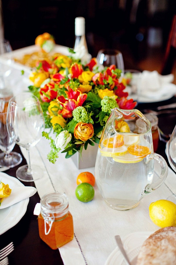 Tischdeko mit Blumen  35 super Ideen  Archzinenet