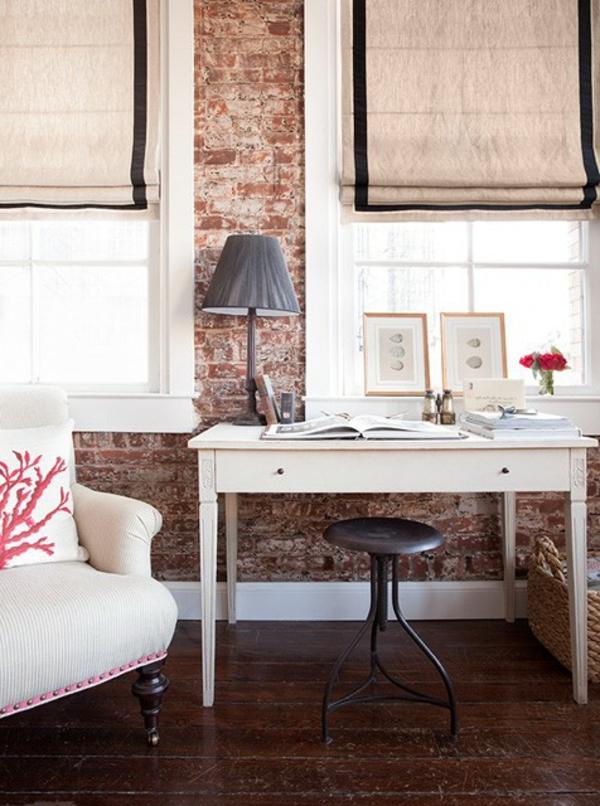 Ziegelwand in der Wohnung integrieren  extravagante Ideen
