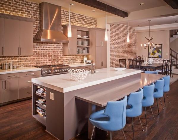 Ziegelwand in der Wohnung integrieren  extravagante Ideen  Archzinenet