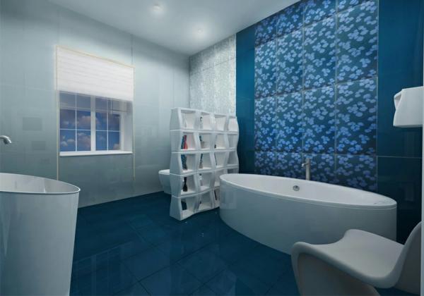 20 Beispiele fr Blaue Bodenfliesen im Badezimmer  Archzinenet