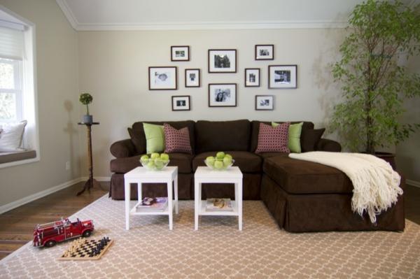 wohnzimmer farbe braune couch - boisholz - Wohnzimmer Ideen Mit Brauner Couch