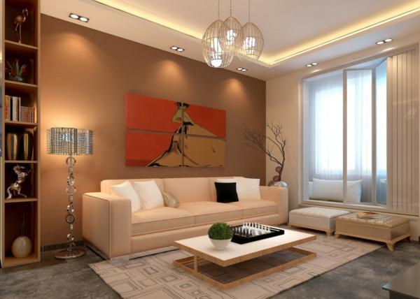 61 coole Beleuchtungsideen fr Wohnzimmer  Archzinenet