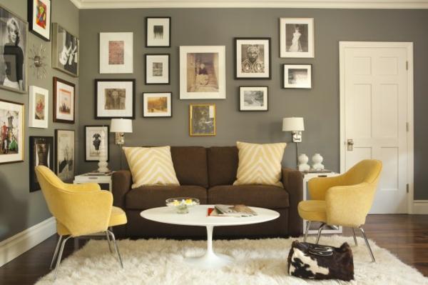 awesome wohnzimmer grau und gelb ideas - home design ideas ... - Wohnzimmer Grau Gelb
