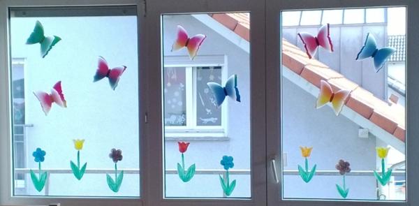 Basteln Fruhling Fenster Home Ideen