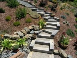 Gartentreppe selber bauen   40 super Beispiele