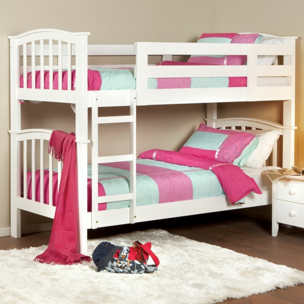 Ideen Fur Kinderzimmergestaltung Hochbett Rosa