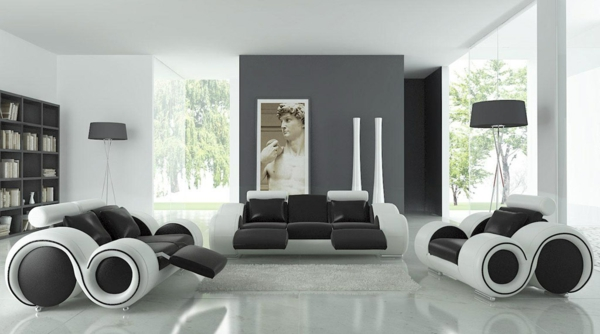 Moderne Wohnzimmer Weiss sdatec.com
