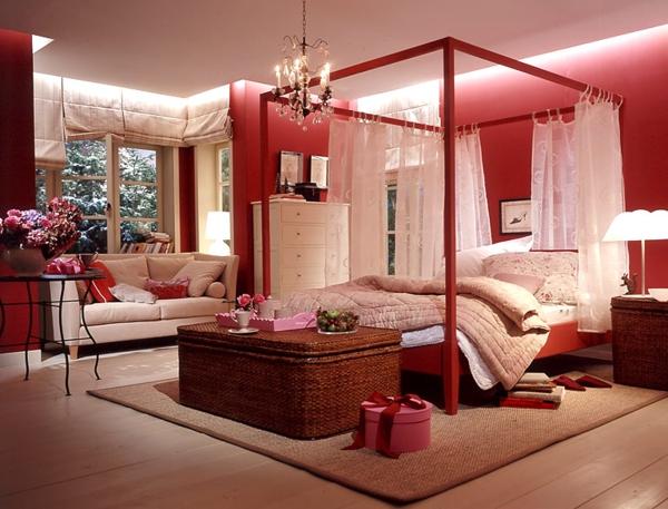 Einrichten mit Farben Rote Farbe  Energie und Leidenschaft zu Hause  Archzinenet