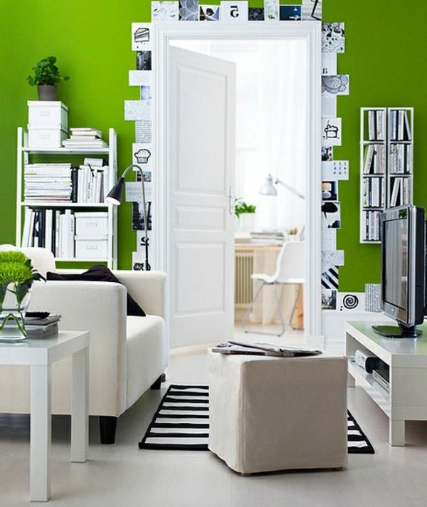 Wandgestaltung Streifen   Badezimmer & Wohnzimmer Wandgestaltung Wohnzimmer Grau Streifen